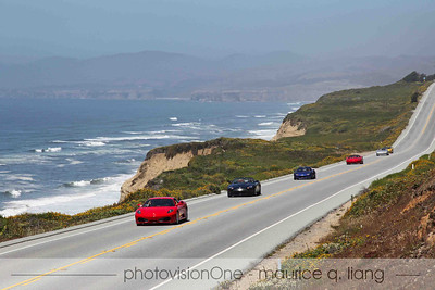 Gorgeous day driving down the Pacific Coast Highway in exotic cars.