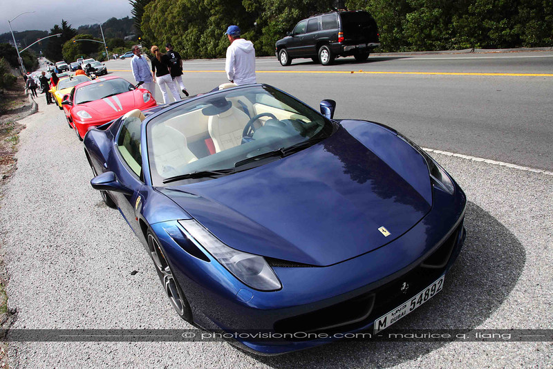 Amed's gorgeous blue 458 Spider.