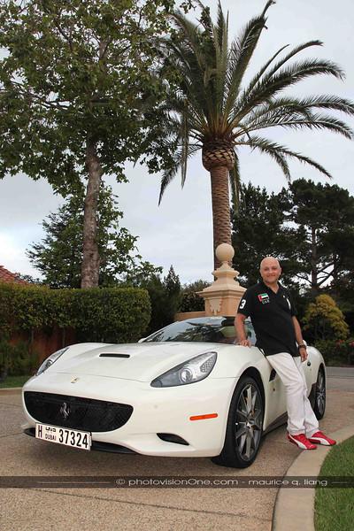 Bahaa with a Ferrari California.
