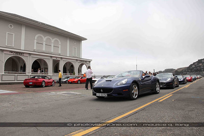 The Ferraris arrive.