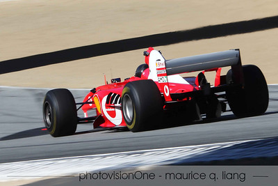 Ferrari Challenge at Laguna Seca.  Bud Moeller in his F1 car, which breaks the track record at 1:05.
