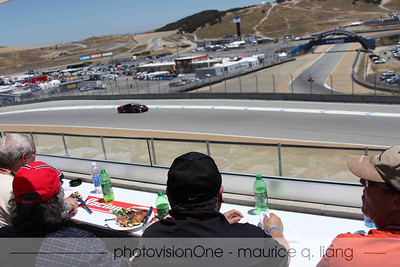 A birds-eye view of the track while dining.
