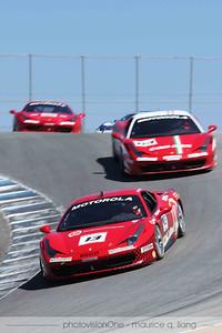 Ferrari Challenge race.