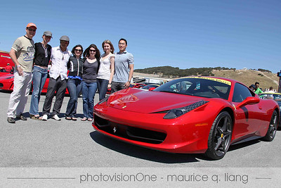 Jessika and her friends stop by to check out the Ferraris.