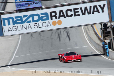 FXX takes to the track.  A track-version of the Enzo.