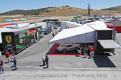 Ferrari San Francisco's paddock area.