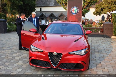 Reid Bigland shows Jay Leno the new Alfa Giulia