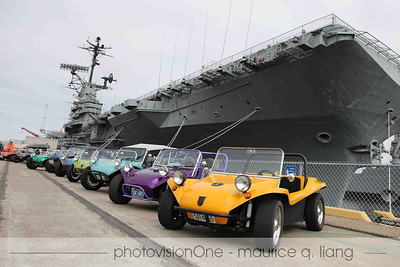 Manx Club visits the USS Hornet with Bruce Meyers, July 24, 2011.