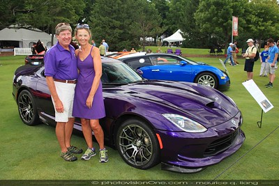 Ted & Joanne Gray with their Stryker purple Viper