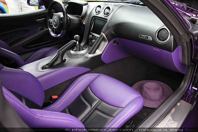 Custom leather interior by Venzano.