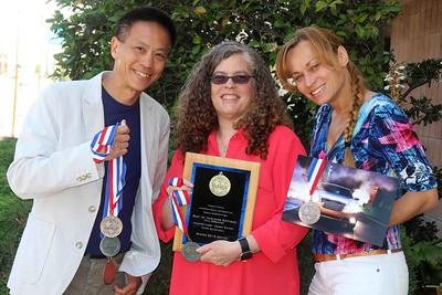 The winning VQ team (Maurice, Debbie, and Hana)