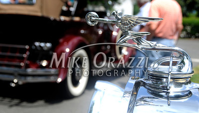 6/18/2011 Mike Orazzi | Staff The hood ornament of a 1931 Packard 840 Convertible Coupe during the Klingberg Vintage Motor Car Festival at the Klingberg campus on Linwood Street in New Britain on Saturday.