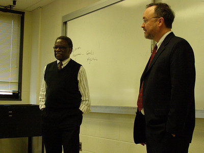 Dr. Fogleman gives a presentation at Howard University, College of Medicine (Washington, DC.)