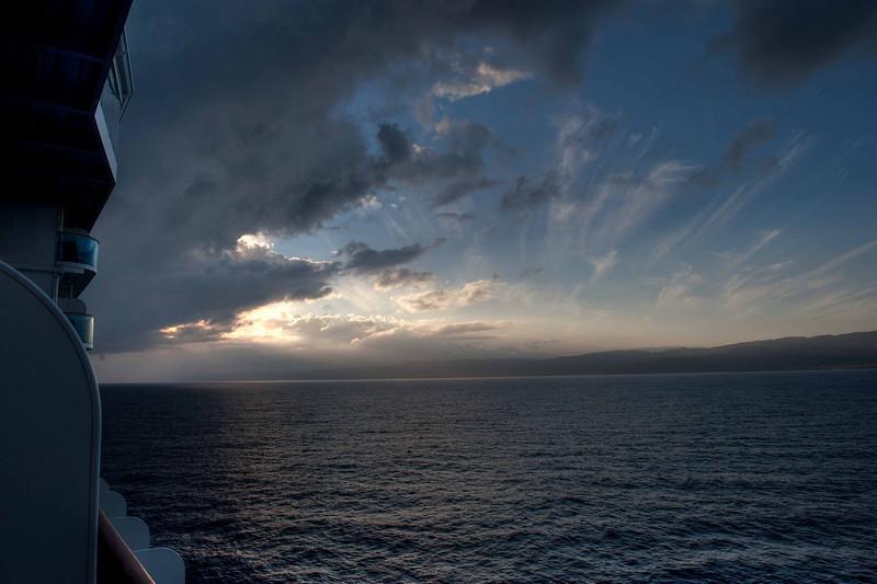 Sunrise off the coast of Jamaica