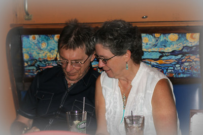 Peter & Joyce sharing good times at Carla's Birthday bash