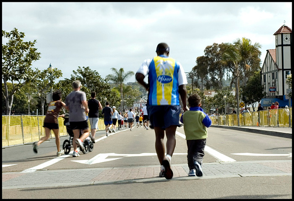 5484 - Sharing the last stretch with his son! -  Priceless!