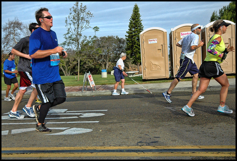 This blind Lady also ran!!!!  or walked!