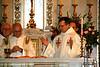 OCD priests Fr. James Geoghan, Vicar General Luis Arostegui, Fr. Donald Kinney, and Provincial Fr. Gerald Werner.