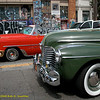 Car club cars. Los Viejitos Car Club, Carnaval Parade 2008 staging. Bryant St. near 24th St., Mission District, San Francisco, California.