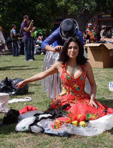 Latin woman at Carnival del Pueblo London 2009