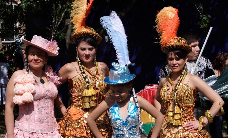 Latin women at Carnival del Pueblo London 2009