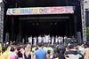 Live music stage Carnaval del Pueblo Burgess Park London 2009