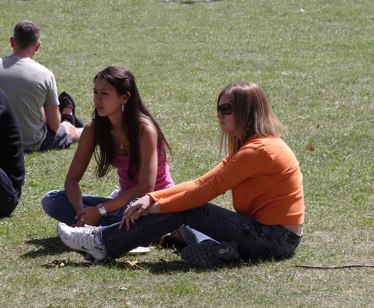 Spectators Carnaval del Pueblo Burgess Park London 2009