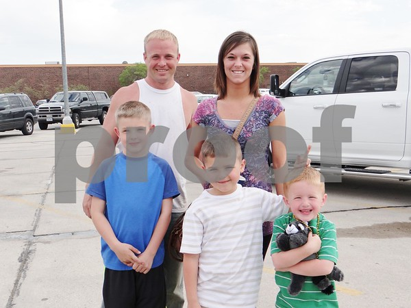 Bill McElroy, Sarah Wright, Colin McElroy, Logan McElroy, and Will McElroy.