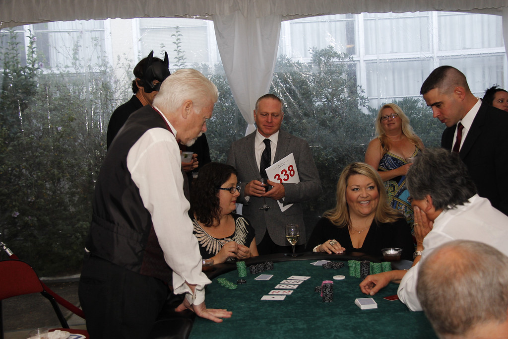 Having fun in the Casino.