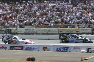 (Foreground) Terry Haddock (Background) Frank Pedregon Top Fuel Funny Car