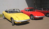 1970s Lotus Elan S4s at Silverstone Classic July 2012