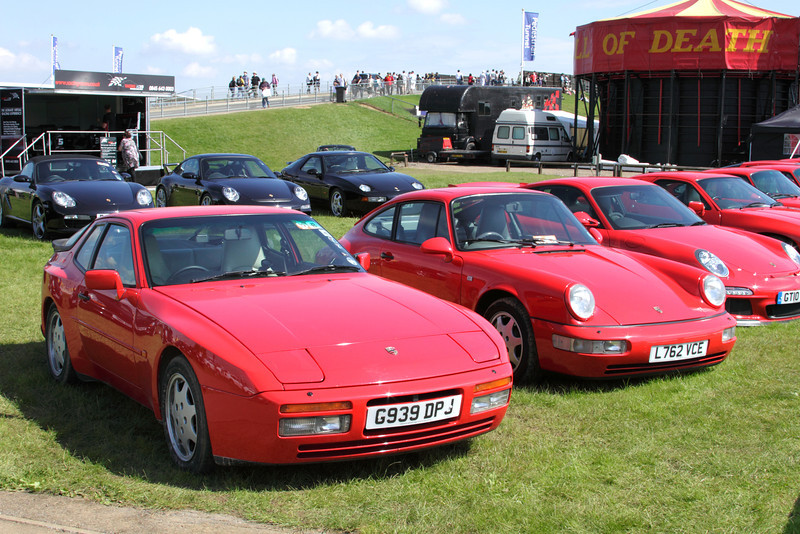 1989 Porsche 944 and 1993 Porsche 911 at Silverstone Classic July 2012