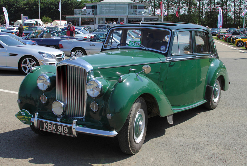 1950s Bentley R Type Saloon at Silverstone Classic July 2012