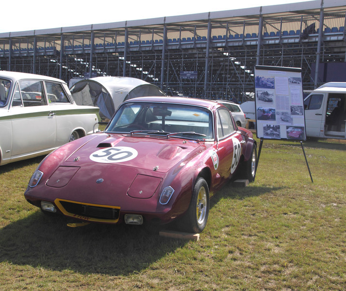 Lotus Elan +2 at Silverstone Classic July 2012