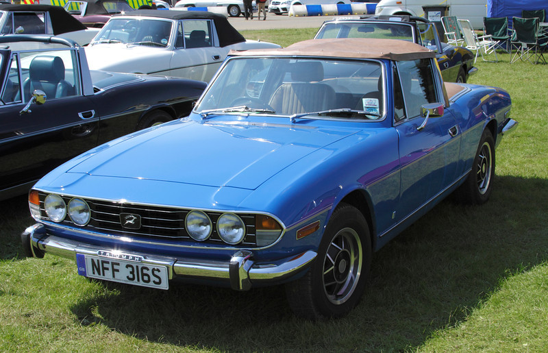 1977 Triumph Stag at Silverstone Classic July 2012