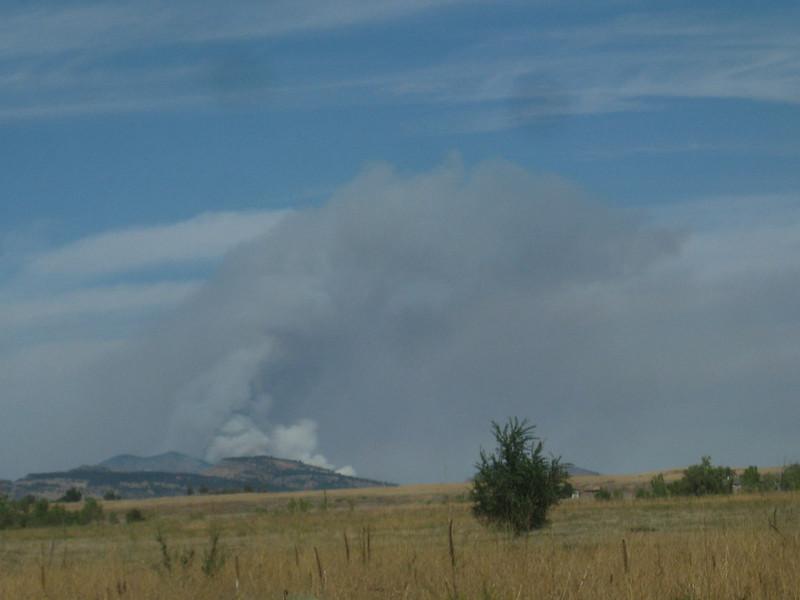 Carter Lake Reservoir Fire