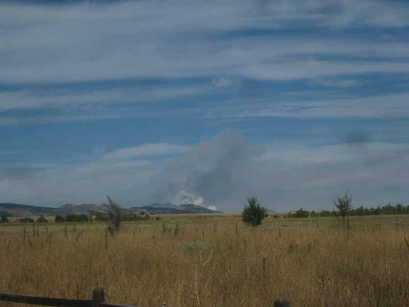Carter Lake Reservoir Fire