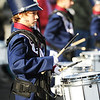 Part of the drum line with the Joplin North Middle School Marching Band performs during the Maple Leaf Parade Saturday morning, Oct. 19, 2013, on the Carthage Square.<br /> Globe | T. Rob Brown