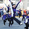 Participants with the Ovation Twirling Team of Carthage leap during the Maple Leaf Parade Saturday morning, Oct. 19, 2013, on the Carthage Square.<br /> Globe | T. Rob Brown