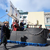 Members of the Joplin Shrine Club sail the high seas of the Carthage Square in search of plunder and booty during the Maple Leaf Parade Saturday morning, Oct. 19, 2013.<br /> Globe | T. Rob Brown