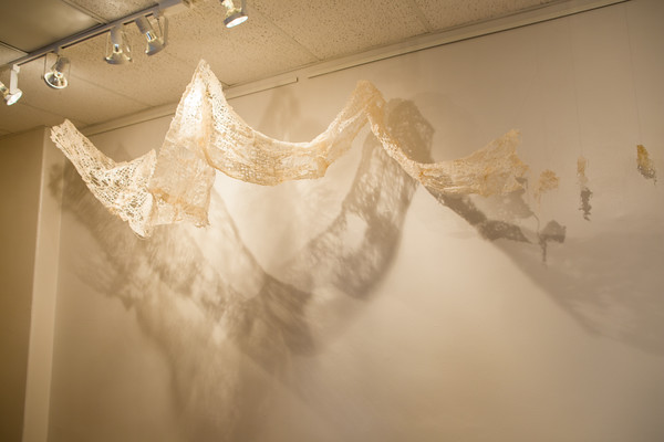 Installation by student Katie Rellinger (Drawing).