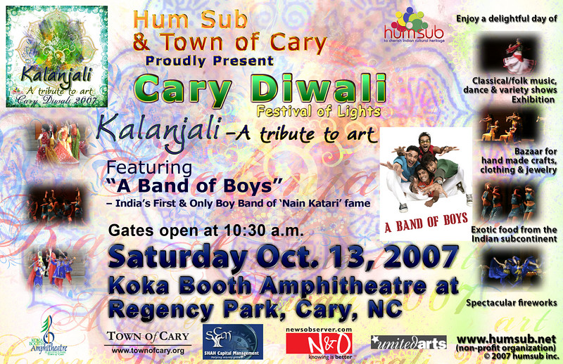 Cary Diwali Event Poster