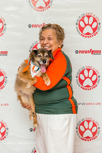 Honoree Donna Shalala with her rescue dog Sweetie