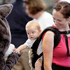 "8/14/10 -- Seattle Humane Society Catapalooza event.  Addy and her mom Casey say ""Hi"" to the SHS mascot. photographer: Dominique Riley"