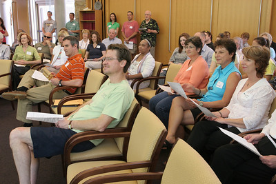 Participants gather in the chapel at the Ignatius House Retreat Center, Atlanta, for the April 25 Catholic Earth Day Celebration. The event was sponsored by Catholic Charities Atlanta's Parish and Social Change Ministry, along with Atlanta parishes Immaculate Heart Church and Sacred Heart Basilica and St. Thomas the Apostle Church, Smyrna.
