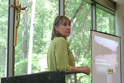 "Sally Bethea, executive director of the Upper Chattahoochee Riverkeeper, speaks on the importance surrounding the protection and preservation of the Chattahoochee River and its watershed. Established in 1994, the Upper Chattahoochee Riverkeeper is an environmental advocacy organization ""dedicated solely to protecting and restoring the Chattahoochee River Basin."""