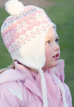 Kirsten pink & white hat 2345