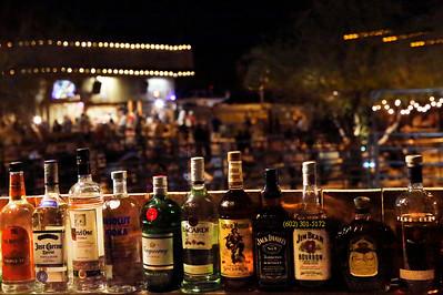 Booze bottles Buffalo Chips bar 8426