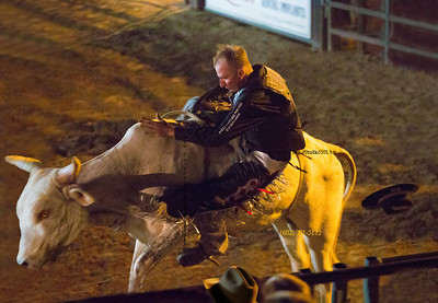 Bull rider lost hat 3528 no hair blur