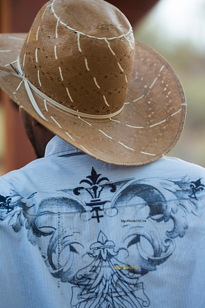 Straw hat from back 3450
